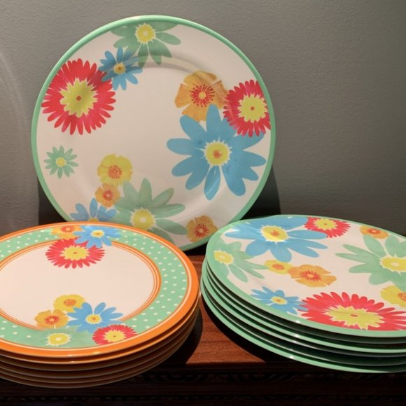 NEW Martha Stewart Collection Fleur Vegetable Serving Bowl White